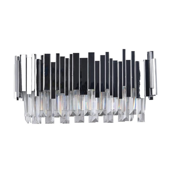 Chrome Stainless Steel Wall Sconce with Crystal Drops. Opens flyout.