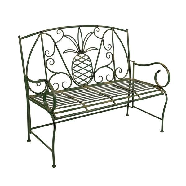 Groovy Shop Special T Green Pineapple Metal Garden Bench Free Caraccident5 Cool Chair Designs And Ideas Caraccident5Info