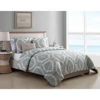 VCNY Home Sea Damask Reversible Comforter Set