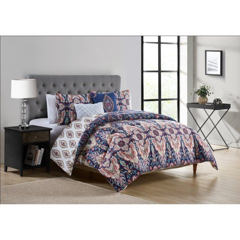 Copper Grove Vitebsk Reversible Damask Comforter Set