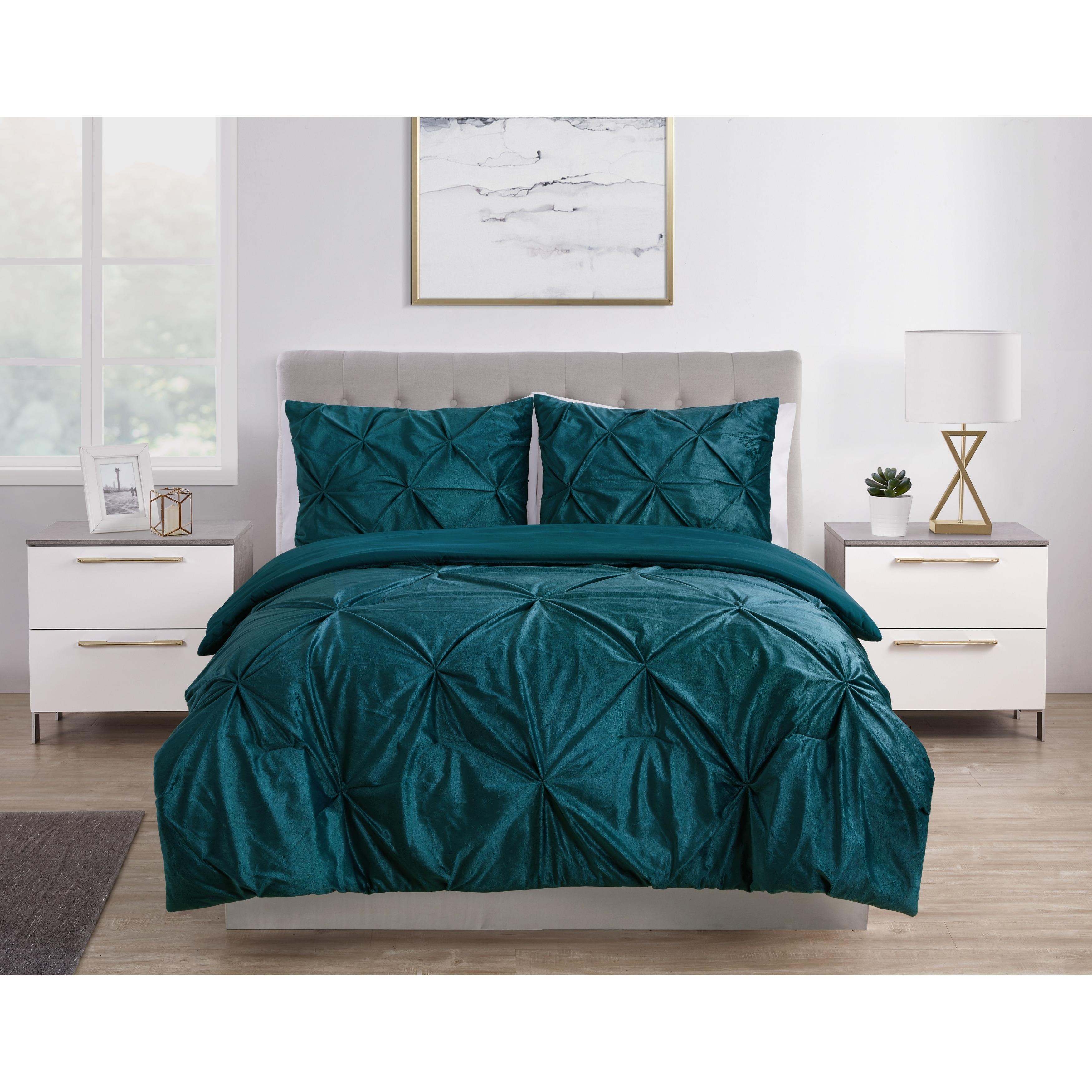 Silver Orchid Schonfeld Velvet Pintuck Comforter Set Overstock 26457313