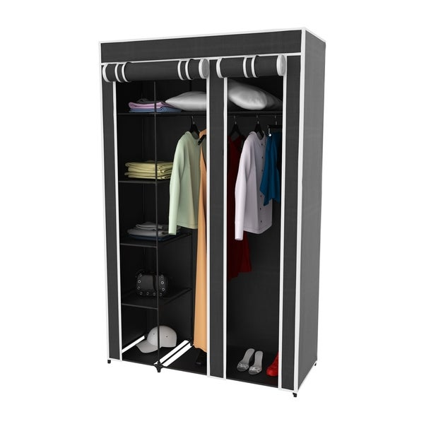 98dea3a6f6ad Shop Wardrobe Closet Organizer with Dust Cover – Free Standing ...