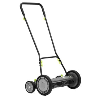 "Earthwise 18"" Reel Mower w/ Trailing Wheels"