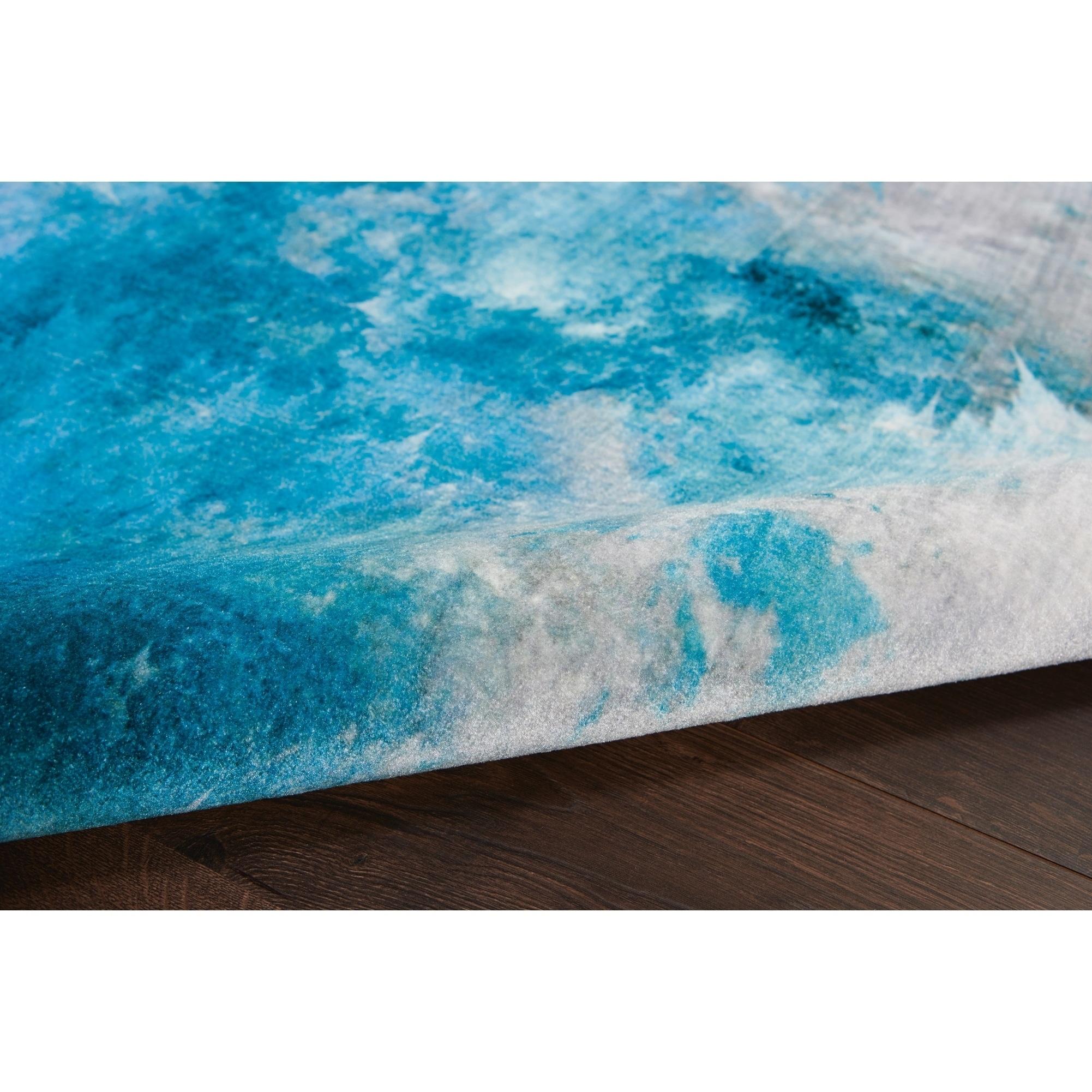 Nourison Le Reve Seafoam Blue Area Rug