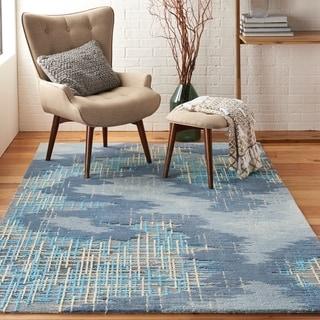 Nourison Symmetry Blue/Beige Area Rug