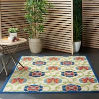 Nourison Aloha Indoor/Outdoor Floral Rug