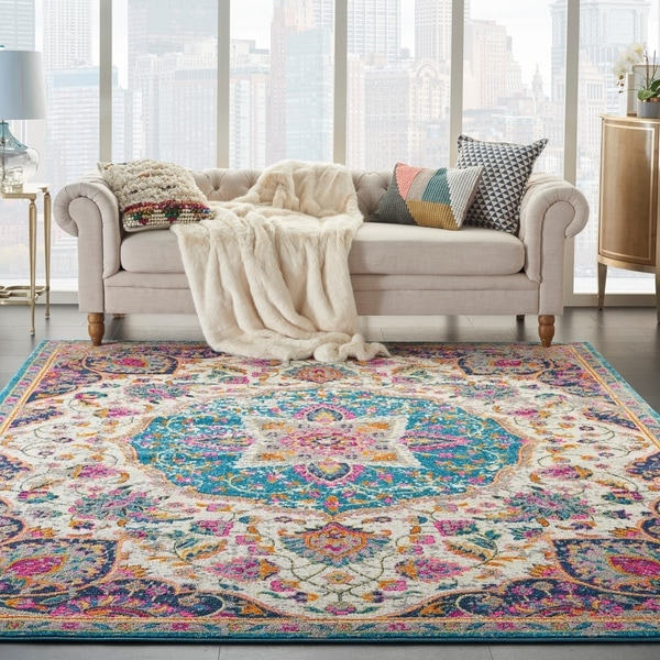 The Curated Nomad Cayuga Medallion Area Rug. Opens flyout.