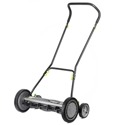 Earthwise 20- Inch Push Reel Mower w/ Trailing Wheels