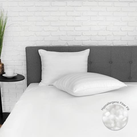 EcoPEDIC Eco-Classic 250 Thread Count Bed Pillow 2 or 4 Pack