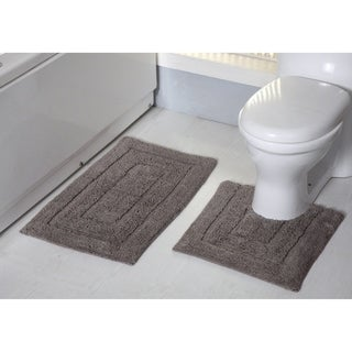 Avani 2-Piece Cotton Bath Rug Set - 20 x 32 in. Bath Rug/20 x 20 in. Contour Rug