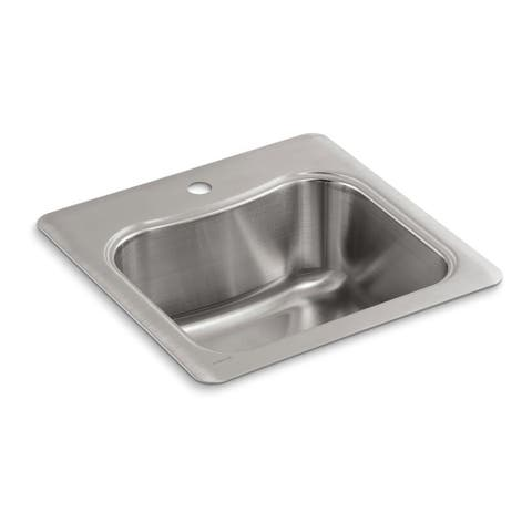 """Kohler Staccato 20"""" X 20"""" X 8-5/16"""" Top-Mount Single-Bowl Bar Sink with Single Faucet Hole"""