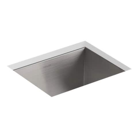 "Kohler Vault 12-1/4"" X 9-9/16"" X 9"" Top-/Under-Mount Bar Sink with 3 Faucet Holes"