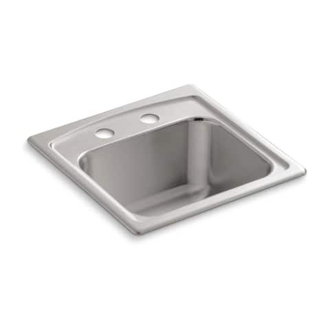 "Kohler Toccata 15"" X 15"" X 7-11/16"" Top-Mount Bar Sink with 2 Faucet Holes"