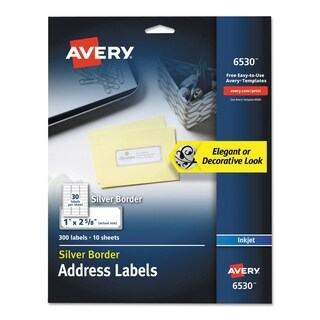 Avery Easy Peel Address Labels, 1 x 2 5/8, 30/Sheet, 10 Sheet/Pack