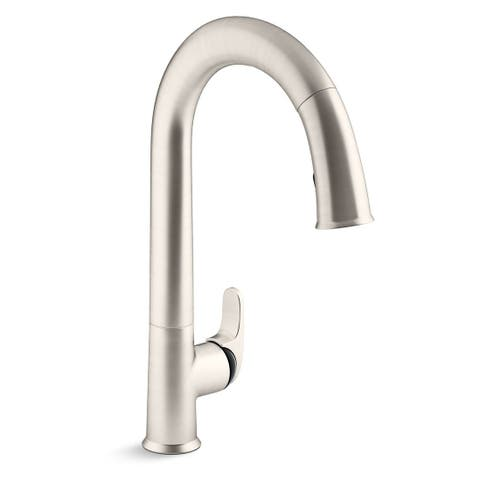Kohler Sensate Pullout Spray Electronic Single Hole Kitchen Faucet K-72218-B7-VS Vibrant Stainless