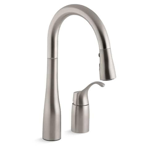 Kohler Simplice Pullout Spray Kitchen Faucet K-649-VS Vibrant Stainless