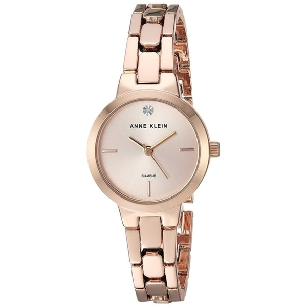 b53e91975 Shop Anne Klein Rose Gold-Tone Alloy Ladies Watch AK-3234RGRG - Free  Shipping Today - Overstock - 26458111