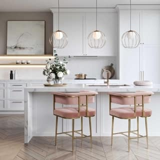 Groovy Buy Pink Transitional Counter Bar Stools Online At Bralicious Painted Fabric Chair Ideas Braliciousco