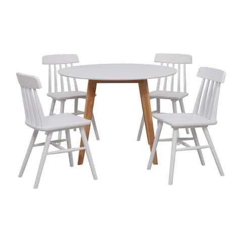 Carson Carrington Telemark 5-piece Round Table