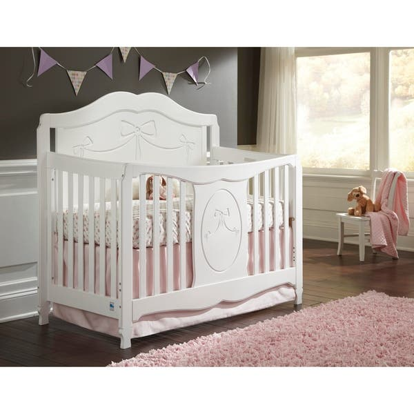 Storkcraft Princess 4 In 1 Convertible Crib Converts To Toddler Bed Daybed