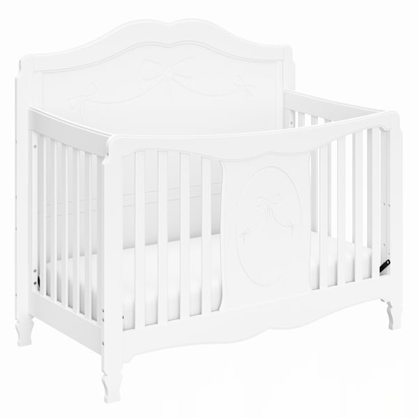 Storkcraft Princess 4-in-1 Convertible Crib - Converts to Toddler Bed, Daybed, and Full-Size Bed, 3 Adjustable Mattress Heights
