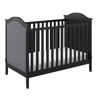 Storkcraft Rosehill Upholstered Convertible Crib - Adjustable Height Bed for Infant or Toddler