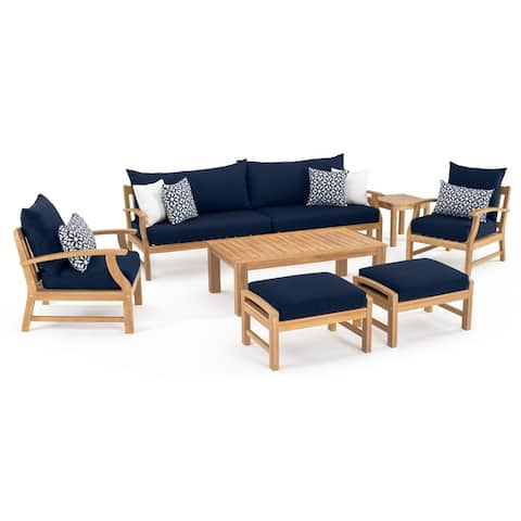 Kooper 8pc Sofa & Club Chair Set in Navy Blue by RST Brands