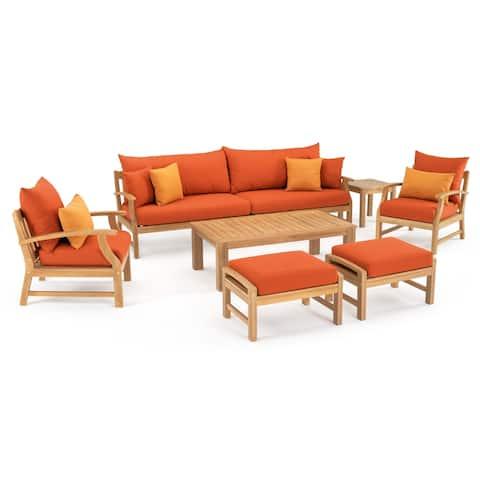 Kooper 8pc Sofa & Club Chair Set in Tikka Orange by RST Brands