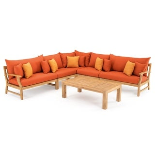 Link to Kooper 6pc Sectional in Tikka Orange by RST Brands Similar Items in Outdoor Sofas, Chairs & Sectionals