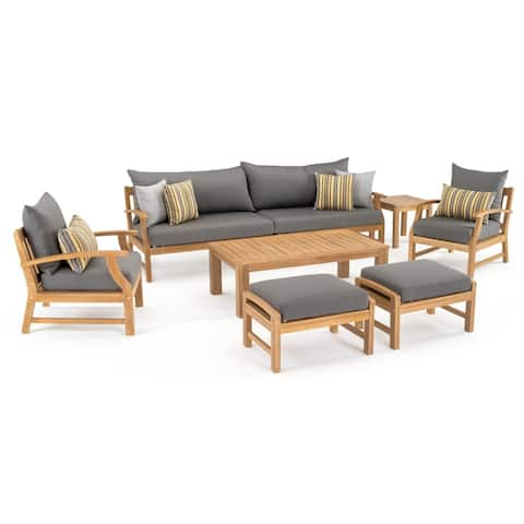 Kooper 8pc Sofa & Club Chair Set in Charcoal Grey by RST Brands