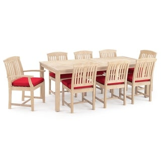 Kooper 9pc Dining Set in Sunset Red by RST Brands