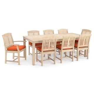 Kooper 9pc Dining Set in Tikka Orange by RST Brands