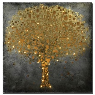 """Tree Of Life"" Lighted Metal Wall Art, Ready to Hang"