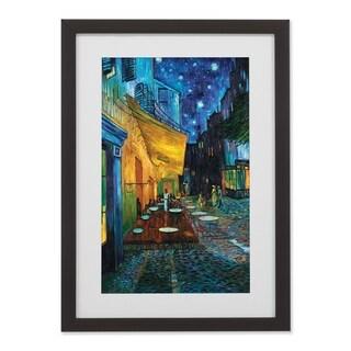 ArtWall Café Terrace Framed Print - Blue