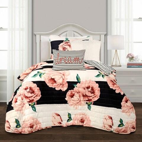 Lush Decor Amara Floral Quilt Set