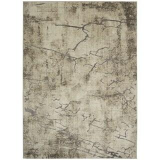 Lightning Cream Gray Contemporary Stylish Area Rug
