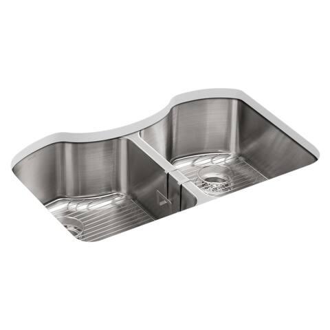 """Kohler Octave 32""""X20-1/4""""X9-5/16""""Equal Kitchen Sink"""