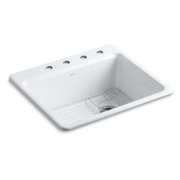 Cool Kohler Riverby 25X22X9 5 8Kitchen Sink Bottom Sink Rack Download Free Architecture Designs Sospemadebymaigaardcom