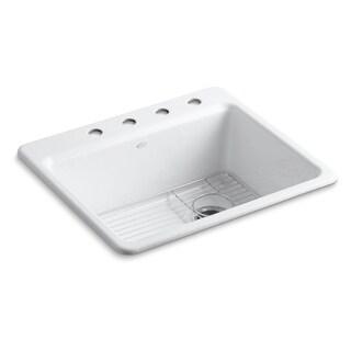 "Kohler Riverby 25""X22""X9-5/8""Kitchen Sink, Bottom Sink Rack"