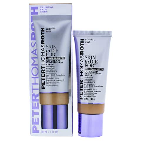 Peter Thomas Roth Skin to Die for 1-ounce Mineral Matte CC Cream Tan 30