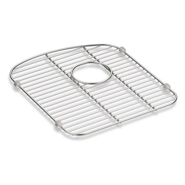 "Kohler Langlade Smart Divide Stainless Steel Sink Rack, 13-1/2"" X 15-3/8"", for Left-Hand Bowl"