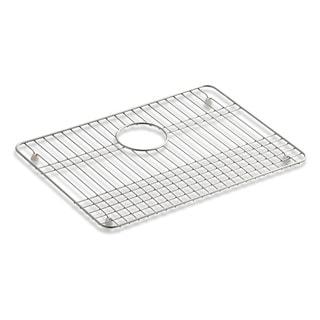 "Kohler Stainless Steel Sink Rack, 19-1/2"" X 14"" for Iron/Tones Kitchen Sinks"