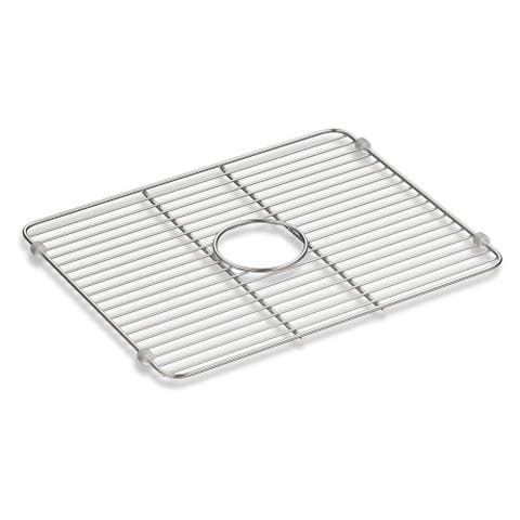 "Kohler Iron/Tones® Smart Divide® Stainless Steel Large Sink Rack, 18-1/4"" X 14-3/8"" Stainless Steel (K-5137-ST) - Accessory"