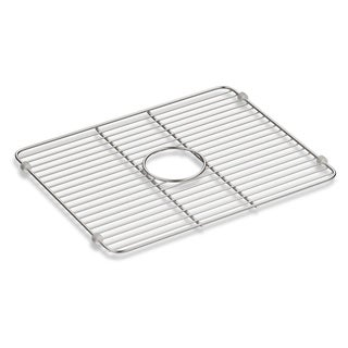 "Kohler Iron/Tones Smart Divide Stainless Steel Large Sink Rack, 18-1/4"" X 14-3/8"""