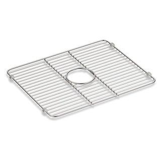 "Kohler Iron/Tones Smart Divide Stainless Steel Large Sink Rack, 18-1/4"" X 14-3/8"""
