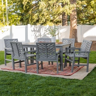 Havenside Home Elephant Point 7-piece Outdoor Chevron Dining Set