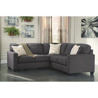 Alenya 2-piece Charcoal Loveseat and Sofa Sectional