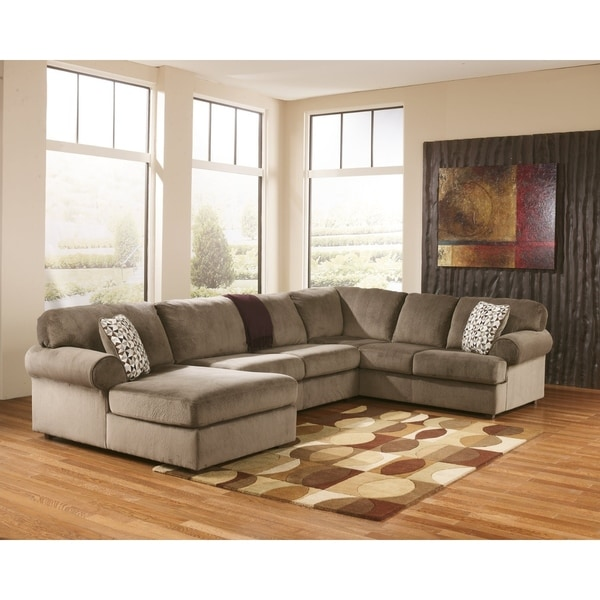 Shop Jessa Place 3 Piece Dune Beige Sectional Sofa On