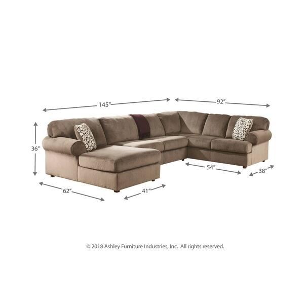Cool Shop Jessa Place 3 Piece Dune Beige Sectional Sofa On Sale Uwap Interior Chair Design Uwaporg