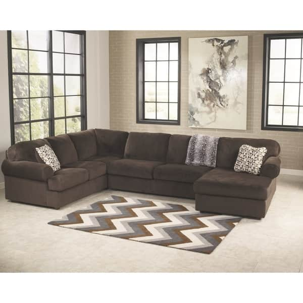 Fantastic Shop Jessa Place Chocolate 3 Piece Sectional On Sale Gmtry Best Dining Table And Chair Ideas Images Gmtryco